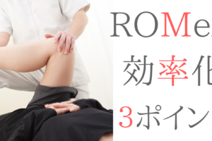 硬い!動かない!戻っちゃう!ROMexを効率的にするための知識を紹介する!!
