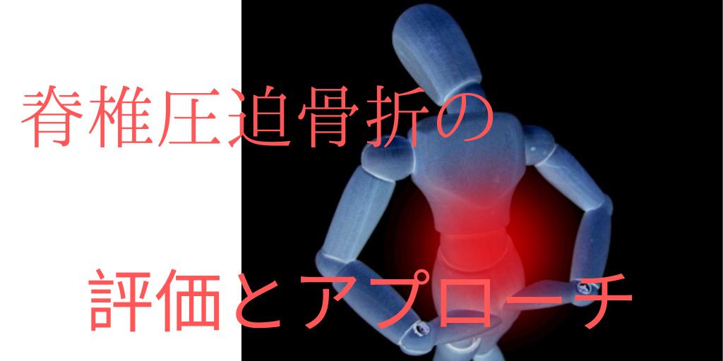 脊椎圧迫骨折に対する評価とアプローチ