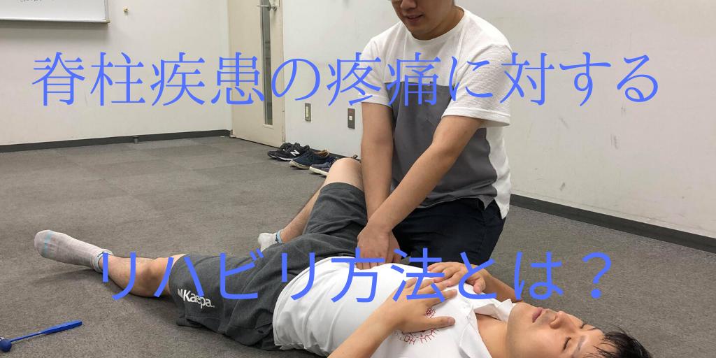 脊柱疾患の疼痛に対するリハビリ方法とは?